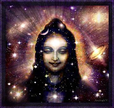 Shiva in blue Space by Ananda Vdovic