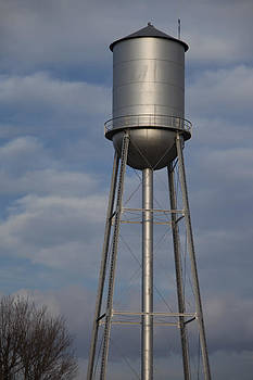 Silver Water Tower by Heather Reeder