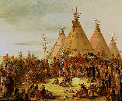 George Catlin - Sioux War Council