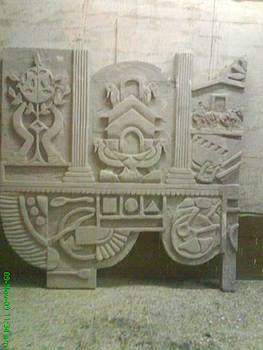 Siporex Carving Mural by Artist Nandakumar Chinchkar