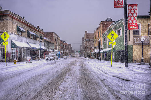 Dan Friend - Snow covered high street in Morgantown