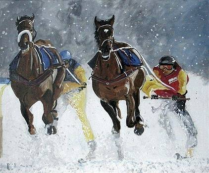 Snow Racing by Harold Hopkinson