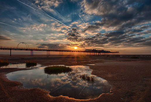 Southport Pier at Sunset by Roger Green