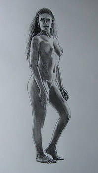 Standing Female Nude by James Gallagher