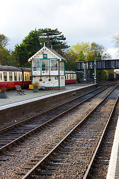 Fizzy Image - steam railway platform and station buildings