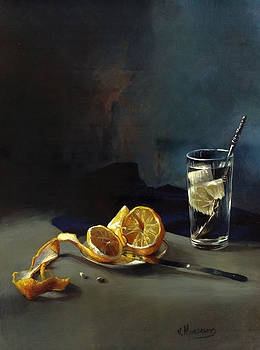 Still life with lemon by Victor Mordasov