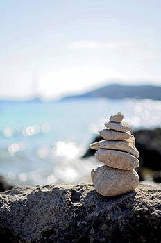 Nano Calvo - Stone Sculptures In Salinas Beach, Ibiza