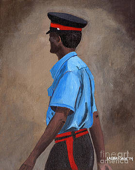Strolling Officer by Laura Forde