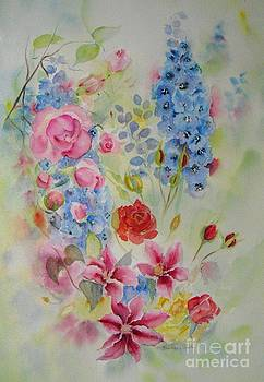 Summer border by Beatrice Cloake
