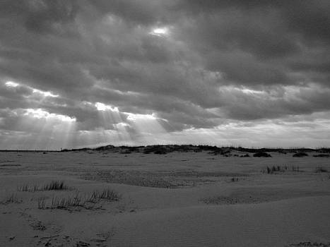 Sunbeams over Sand Dunes 1 by Bob Richter