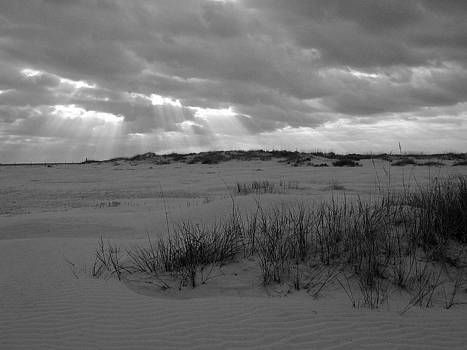 Sunbeams over Sand Dunes 2 by Bob Richter