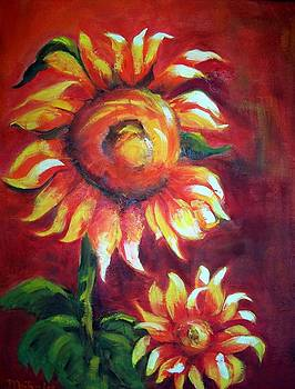 Sunflower Sunset by Maureen Ghetia