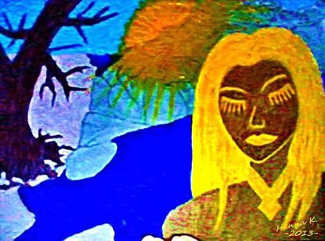 Sunlady II At The Rocky Seaside by Hanna Khash