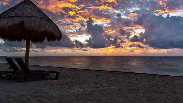 Sunrise in Cancun Mexico by Craig Bowman