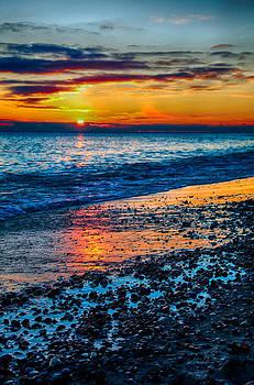 Sunrise Lake Michigan 11-10-13  by Michael  Bennett