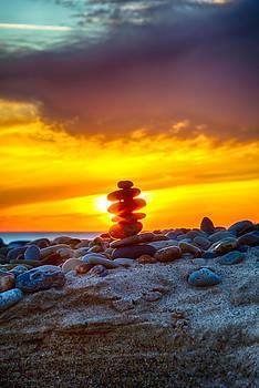 Sunrise Lake Michigan 11-9-13  by Michael  Bennett