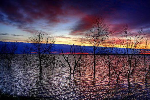 Sunrise on Devils Lake by Larry Trupp