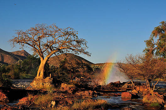 Sunset at the Epupa waterfall in Namibia by Grobler Du Preez
