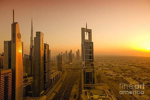 Fototrav Print - Sunset on Dubai Skyline