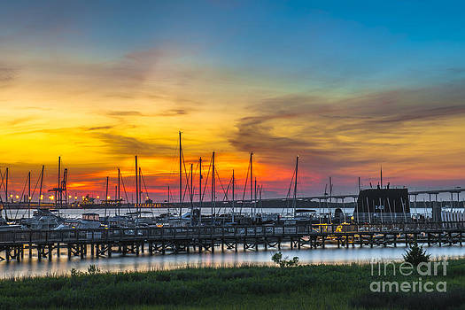 Dale Powell - Sunset Over Charleston Harbor