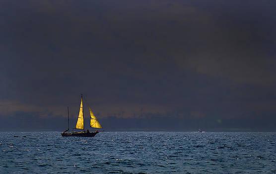 Sunset Sail by Jonica Hall