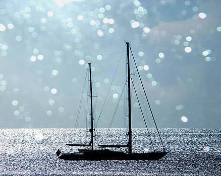 Sunset Sailboat by Ken Reardon