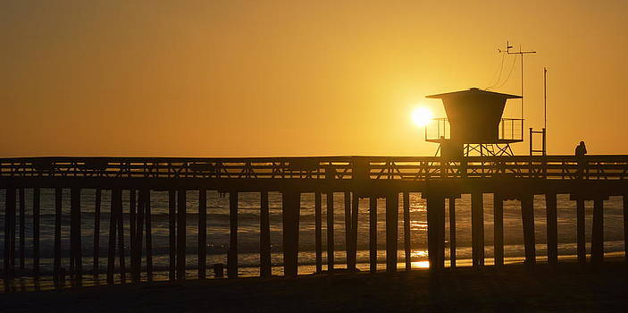 Sunset on the Pier by AJ  Schibig