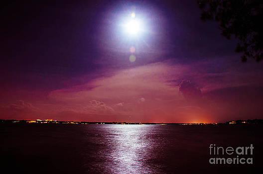 SuperMoon over Sarasota Bay by Shawn  Bowen
