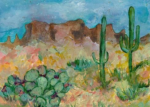 Superstition Mountains Arizona by Elaine Elliott