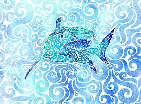 Swirly Shark by Carolina Matthes