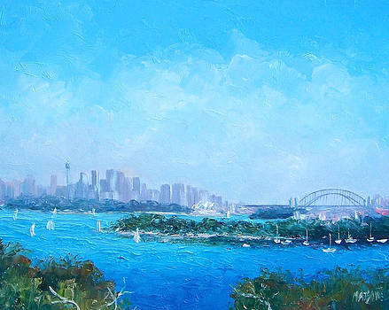 Jan Matson - Sydney Harbour and the Opera House cityscape view