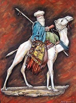 Targui with camel by Abbas Djamat
