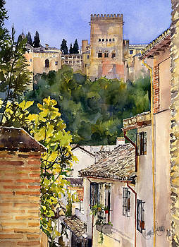The Alhambra from the Albaicin by Margaret Merry
