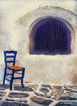 The blue chair B by George Rossidis