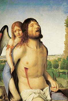Antonello Da Messina - The Dead Christ Supported by an Angel