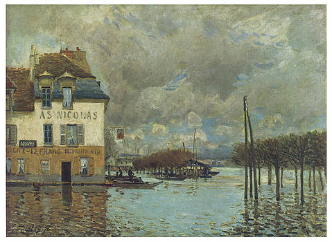 Alfred Sisley - The Flood at Port-Marly