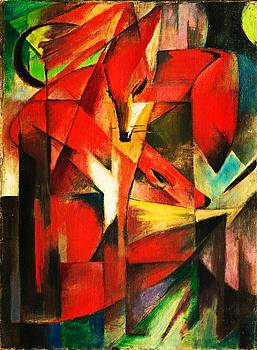The Foxes by Franz Marc