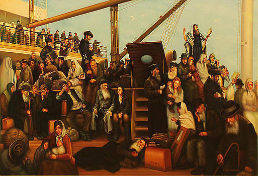 The ship of Jewish Immigrants. by Eduard Gurevich