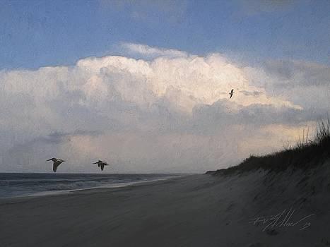 Thunderhead over Pea Island by Forest Stiltner