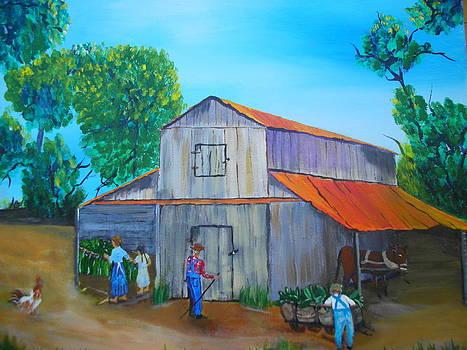 Tobacco Barning Days by Linda Bright Toth