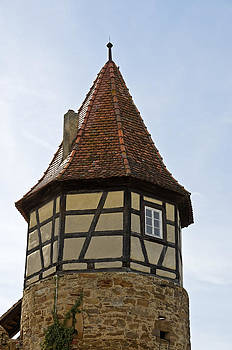 Tower in Town Walls Prichsenstadt Germany by David Davies