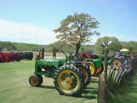 Tractors Parked    1791 by Fritz Ozuna
