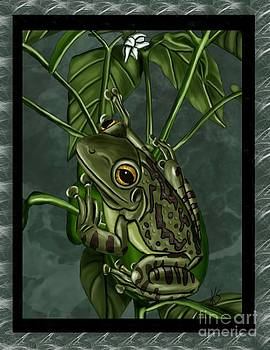 Tree Frog by Karen Sheltrown