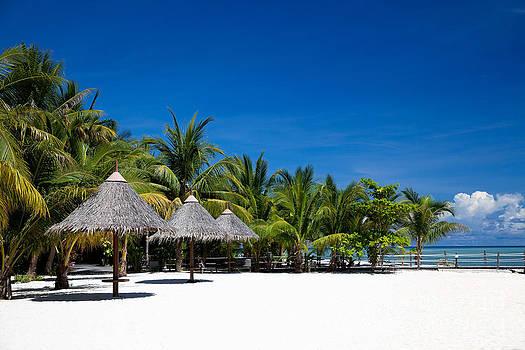 Tropical White Sand Beach Borneo Malaysia by Fototrav Print