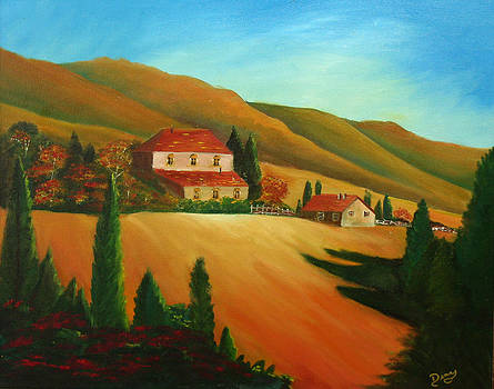 Tuscan Countryside by Dina Jacobs