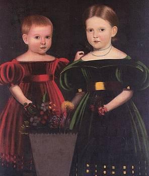 Two Children Torrey Family by Artist Unknown
