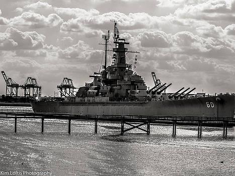 USS Alabama  by Kim Loftis