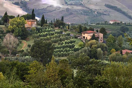 Valley at Montepulciano Italy by John Hix