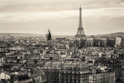 View of Paris and of the Eiffel Tower from Above by Francesco Rizzato