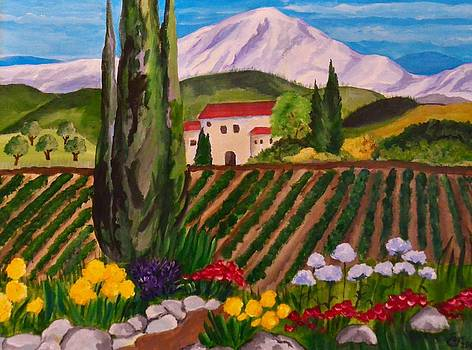 Villa in Tuscany by Faye Silliman